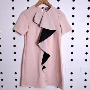 Asos Short Sleeve Ruffle Mini Dress